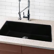 black undermount kitchen sink highpoint collection granite composite 33 inch single bowl black