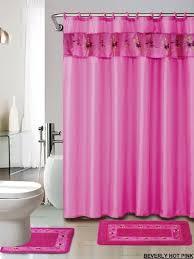 Pink Bathroom Rugs 4 Luxury Embroidered Bath Rug Set 3
