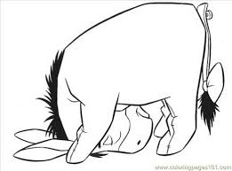 coloring pages eeyore cartoons free printable 638275 coloring