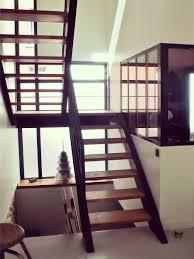 escalier bois design c cube extension osssature bois escalier et huisseries acier