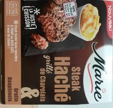 cuisine steak haché steak haché grillé de charolais gratin dauphinois 300 g