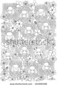 coloring book page children set stock vector 404995396