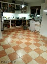 Tile For Kitchen Floor by Painted Tile Floor No Really Make Do And Diy