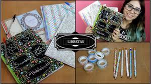 como forrar un cuaderno con tela youtube libretas ideas para decorar tus libretas o cuadernos en el regreso