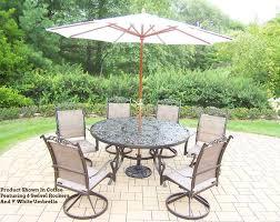 60 Patio Table Cascade 9 Pc Patio Dining Set 60 Umbrella 2205t 10605 4101 8