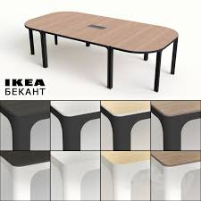 Ikea Bekant Conference Table Charming Bekant Conference Table With 3d Models Office Furniture