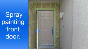spray painting a front door youtube