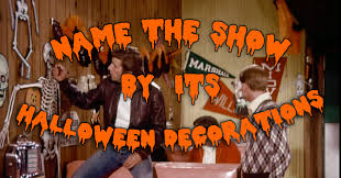 can you name the show by its halloween decorations