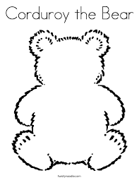 corduroy the bear coloring page twisty noodle