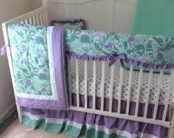 Purple And Teal Crib Bedding Mermaid Crib Bedding Baby Bedding Set Mermaid