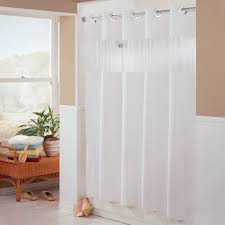 Magnetic Shower Curtain Liner Hbh41bub01w White The Major Shower Curtain With Matching Flat Flex