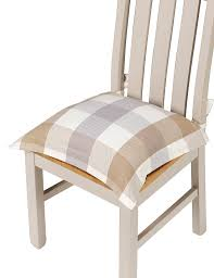 Dining Room Chair Cushions And Pads by Jumbo Checked Seat Pad M U0026s