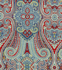 waverly home decor print fabric paisley pizzazz herita joann