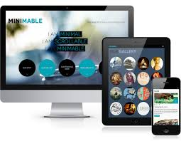 minimable minimal scrollable responsive one page wordpress