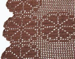 Crochet Valance Curtains Crocheted Valance Etsy