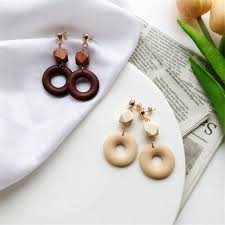 japan earrings jewelry wholesale japan and south korea wood earrings
