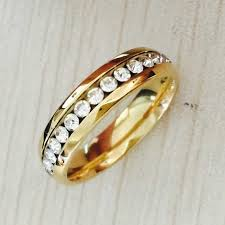 wedding ring brand brand classic 6mm gold color cz rings wedding band