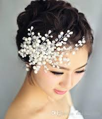 wedding tiara 2016 wedding tiara comb handmade headdress with pearl wedding hair