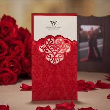 Red Wedding Invitations Aliexpress Com Buy Red Wedding Invitation Card 2015 Luxury