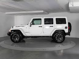 white and black jeep wrangler used 2016 jeep wrangler unlimited rubicon hard rock suv for sale