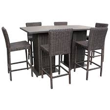 outdoor 5 piece pub table set wicker pub table and chairs