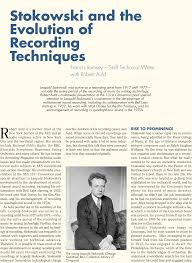 aes e library stokowski and the evolution of recording techniques