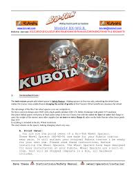 kubota bx rear wheel spacer instruction pdf bro tek