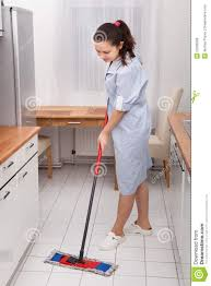 Kitchen Floor Cleaner by Young Maid Cleaning Kitchen Floor Stock Photo Image 53188268