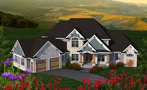 House Plans With Angled Garage 4 Bed House Plan With Angled Garage 89977ah Architectural