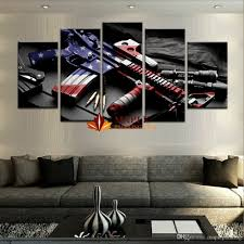 wholesale large wall art hd printed gun home decorative pictures