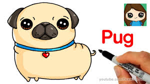 how to draw a pug easy youtube
