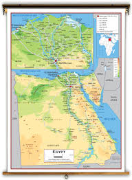 Physical Features Map Of Africa by Egypt Physical Educational Wall Map From Academia Maps