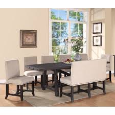 8 pc dining room set modus yosemite 8 piece rectangular dining table set with