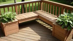 Deck Planters And Benches - deck planter box bench home design ideas