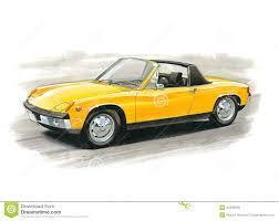 porsche 914 yellow porsche 914 editorial stock image image 43385639
