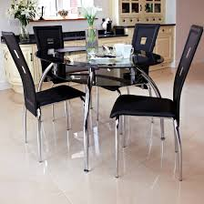 Small Glass Dining Table And 4 Chairs Literarywondrous Modern Glass Dining Room Tables Images Ideas Home