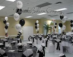 black and white centerpieces balloon event decorating most southeastern florida