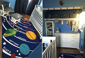 fresh space themed baby room interior designing ship wall decals