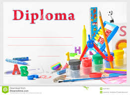 preschool certificates preschool kids diploma certificate design template stock vector