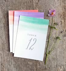 table numbers for wedding wedding printables color wash table numbers gift favor ideas
