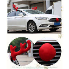 reindeer antlers for car christmas car decoration plush rudolf reindeer antler and nose