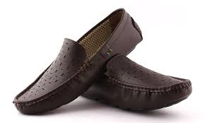 redfoot leather look men brown driving casual loafers shoes buy