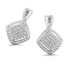 silver diamond earrings shop by designer colore sg diamond earrings in sterling silver
