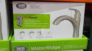 waterridge kitchen faucet waterridge pull out kitchen faucet costco weekender water ridge