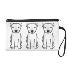 american pitbull terrier natural ears pit bull dog wristlets zazzle