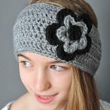 crochet ear warmer headband crochet ear warmer with layered flowers petals to picots