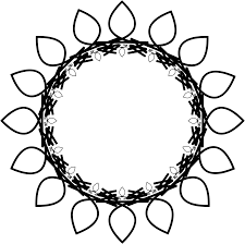 clipart sunflower rosette