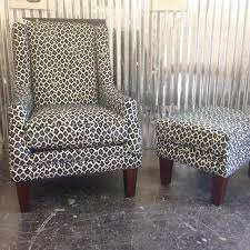 navy leopard print chair u0026 ottoman richmond by u fab