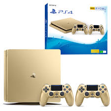 Ps 4 Ps4 Slim 500 Gb Gold Original Garansi Resmi Sony Pes 2018 playstation 4 slim 500gb gold console with controller the