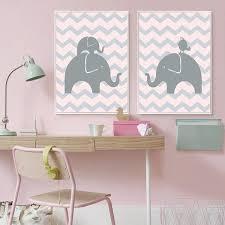 toile chambre bébé fille décoration poster toile éléphant éléphanteau fille